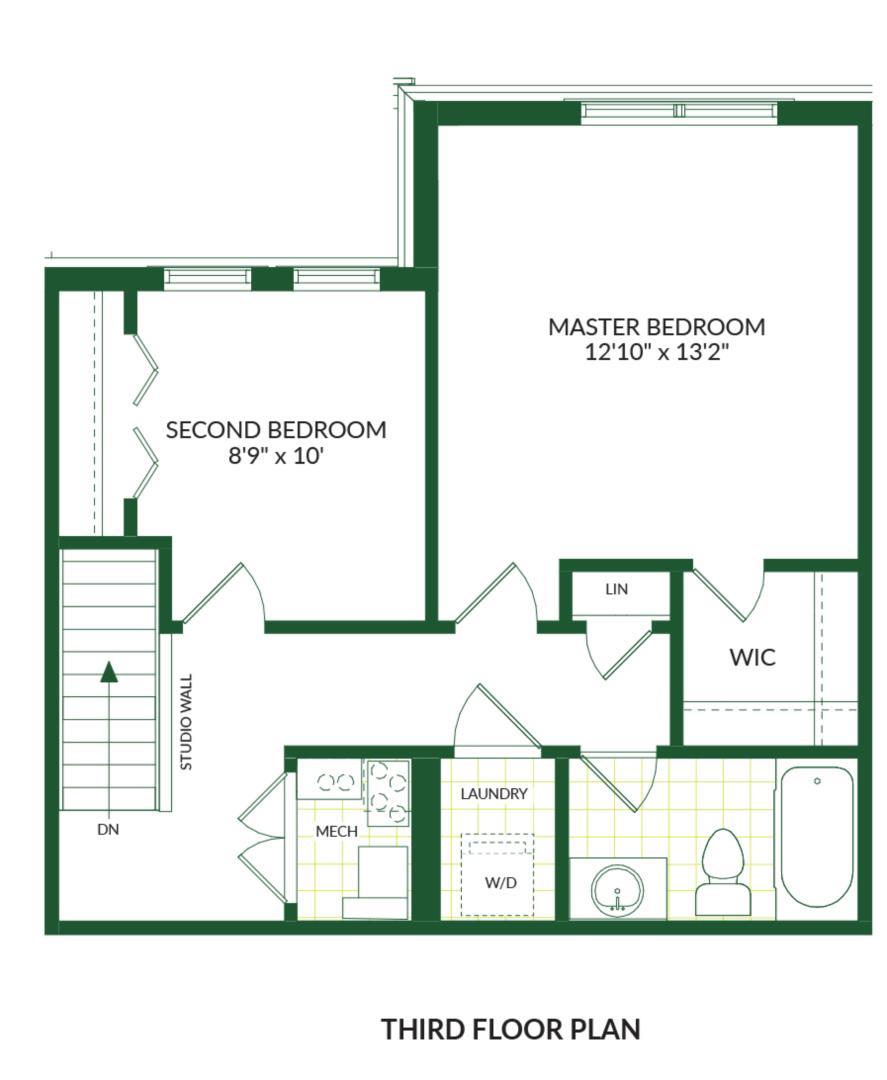 The Carson B, Building G Floorplan 3