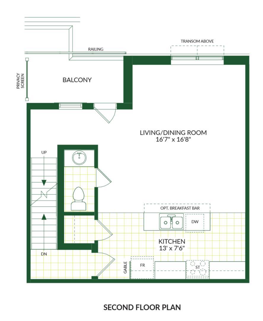 The Carson B, Building G Floorplan 2
