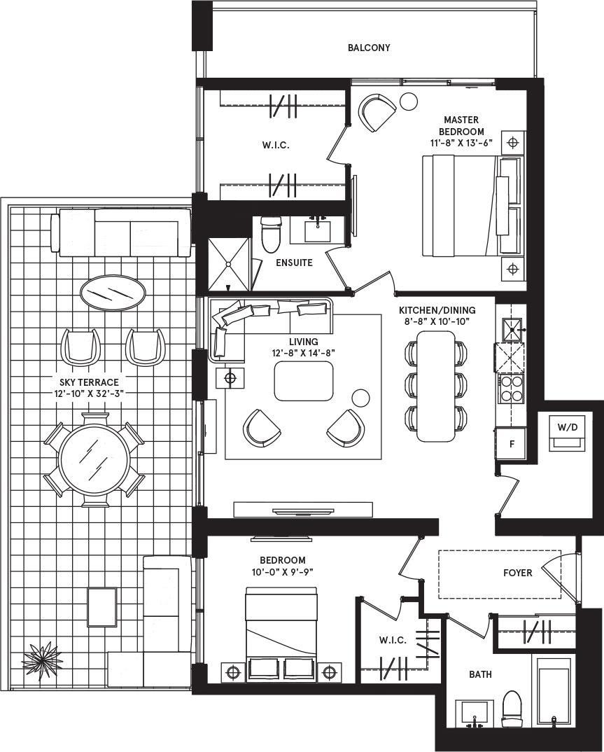 Zurich Sky Terrace Floorplan 1
