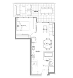 West Tower 10 Floorplan 1