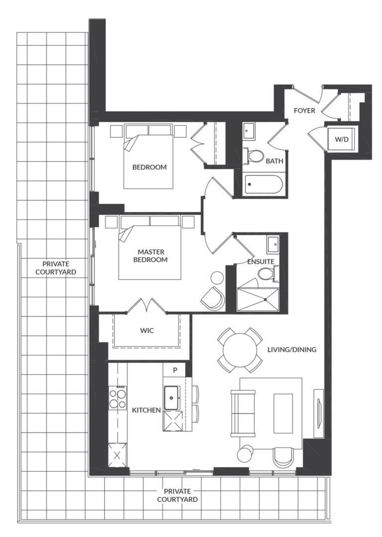 Suite 205 Floorplan 1