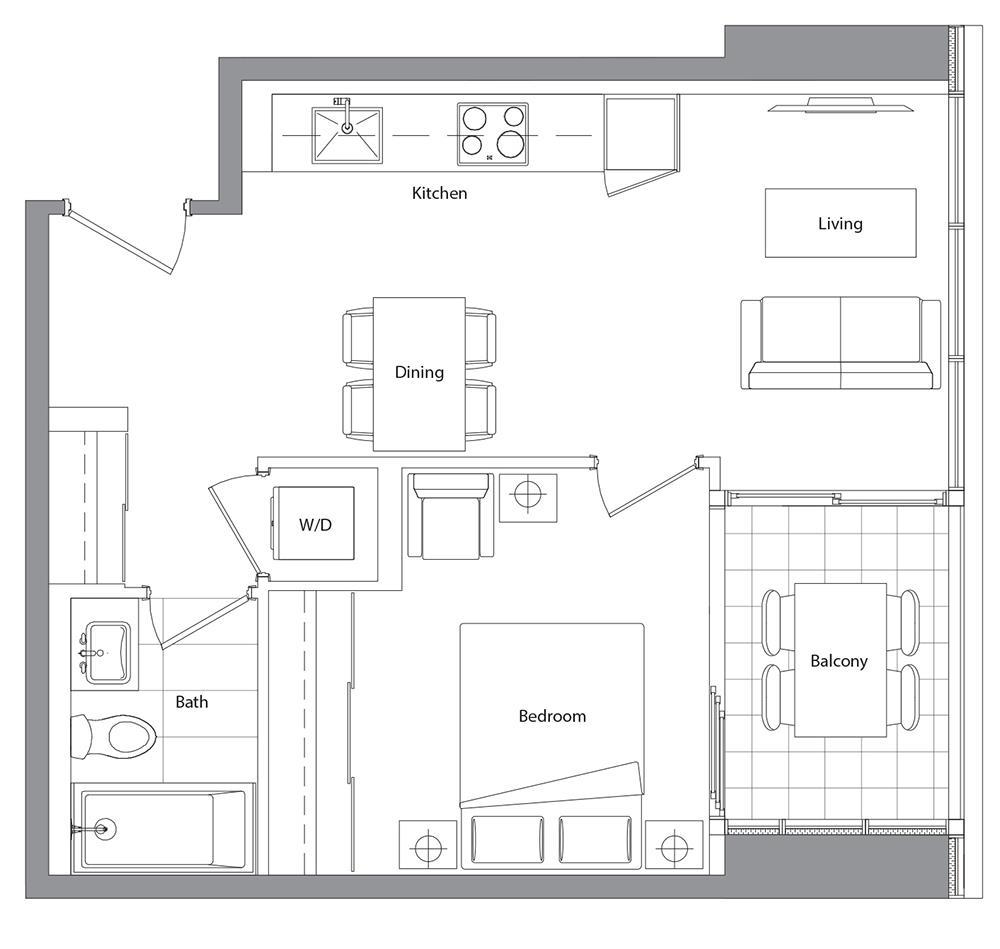 Podium 505 Floorplan 1