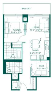 Tower Collection - Robson Floorplan 1