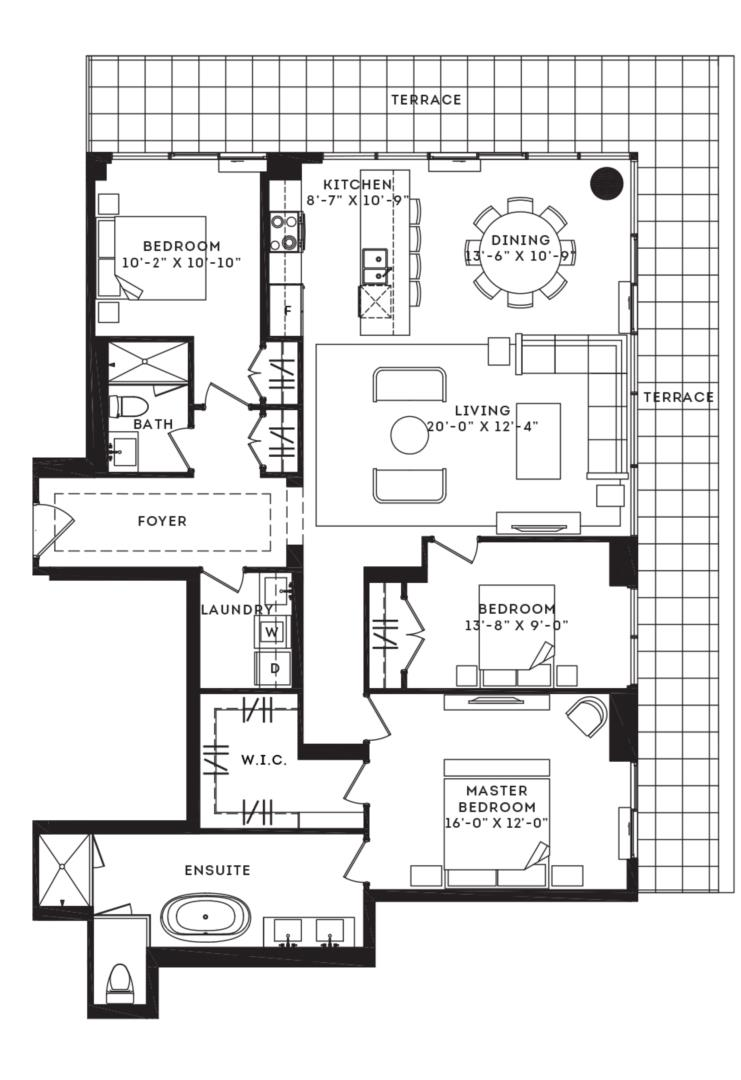 The Bowery Floorplan 1
