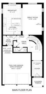 The Brockton IV A Floorplan 1
