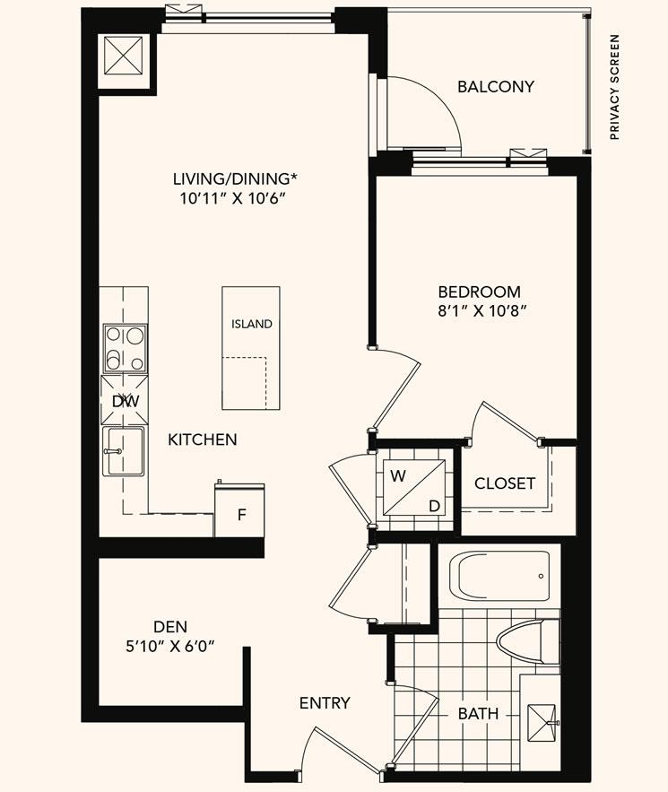 The Kingsbridge Floorplan 1