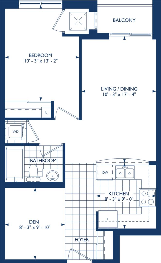 The Carlisle Floorplan 1