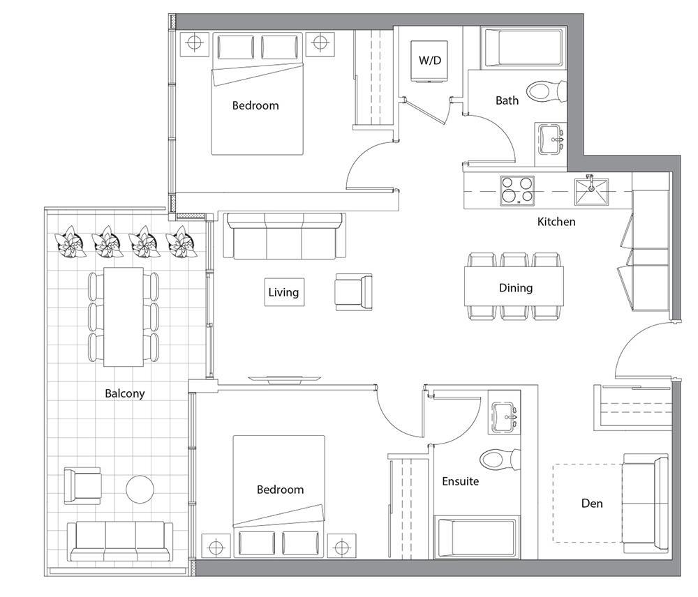 East Tower Upper 06 Floorplan 1