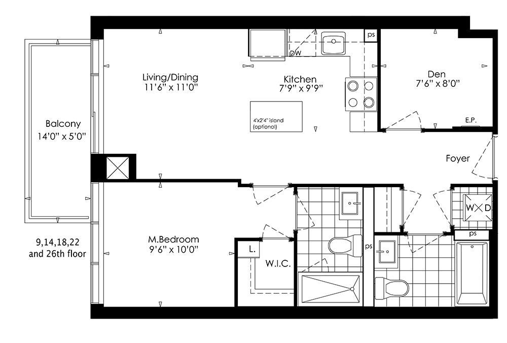 1E+D Floorplan 1