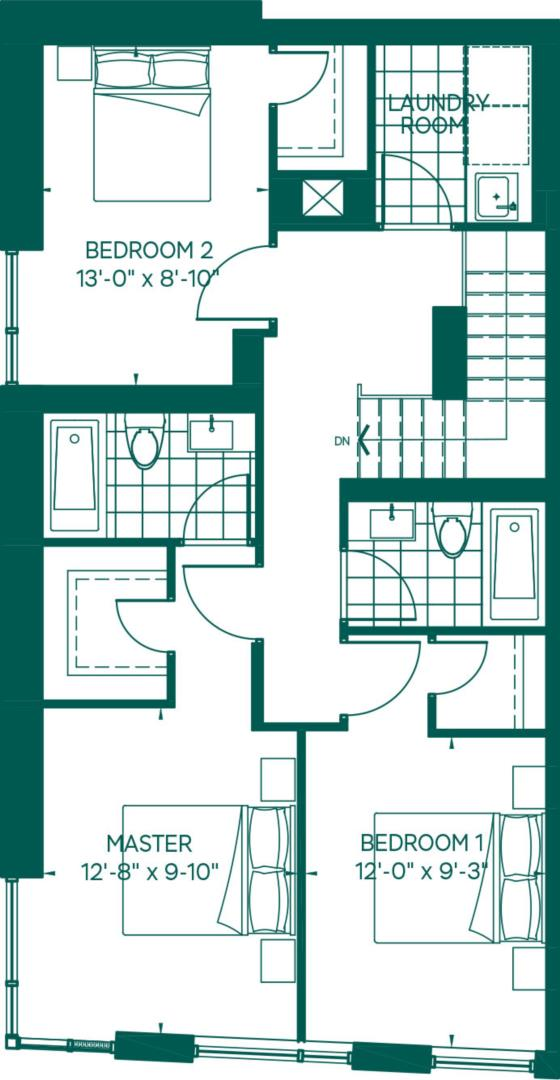Townhome Collection - LeConte Floorplan 2