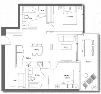Upper House Suite 09 Floorplan 1