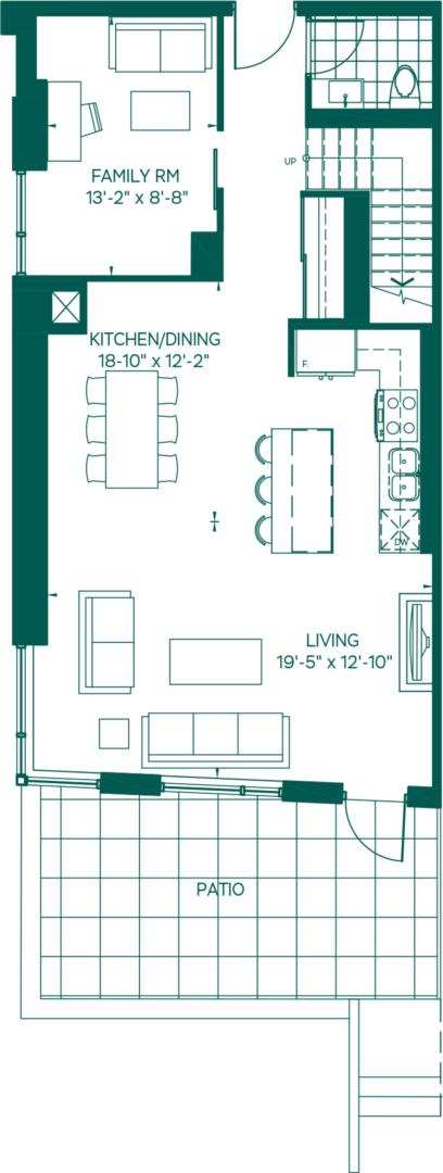 Townhome Collection - LeConte Floorplan 1