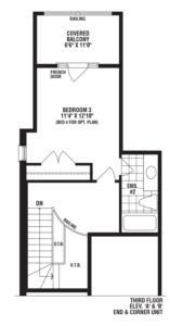 Turquoise End Unit Floorplan 3
