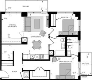 M3-W Floorplan 1