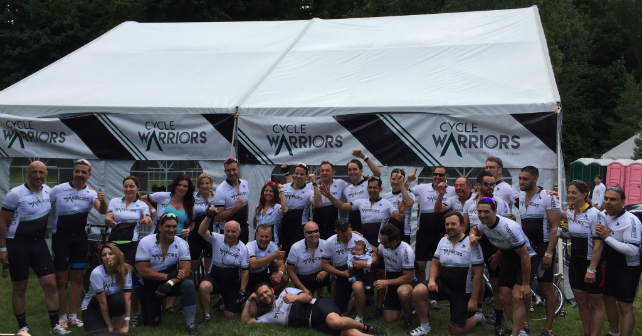 The Cycle Warriors aim high at the Ride to Conquer Cancer Image