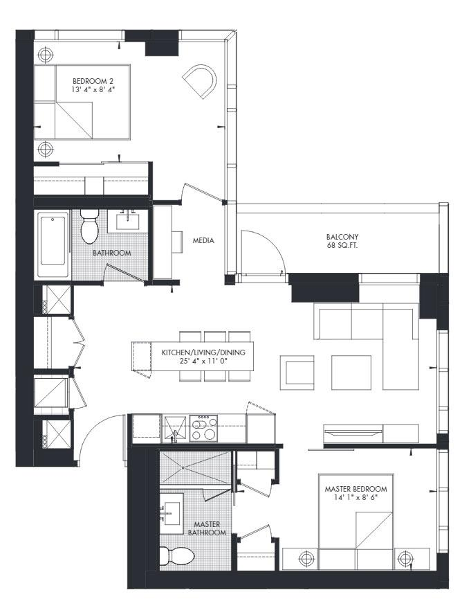 Yorkville 38 Floorplan 1