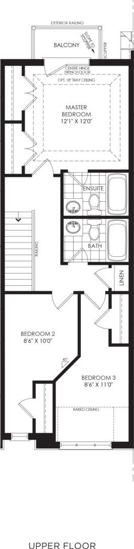 BLOCK 4, ELEV. B2 REV, UNIT 3 Floorplan 3
