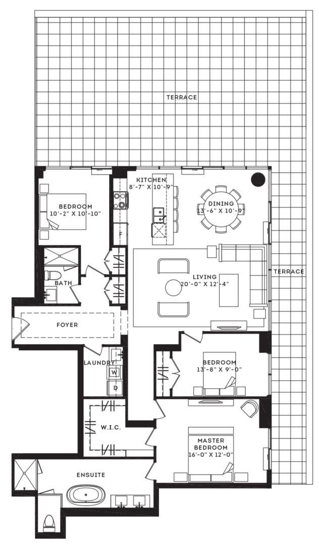 The Bowery Terrace Floorplan 1