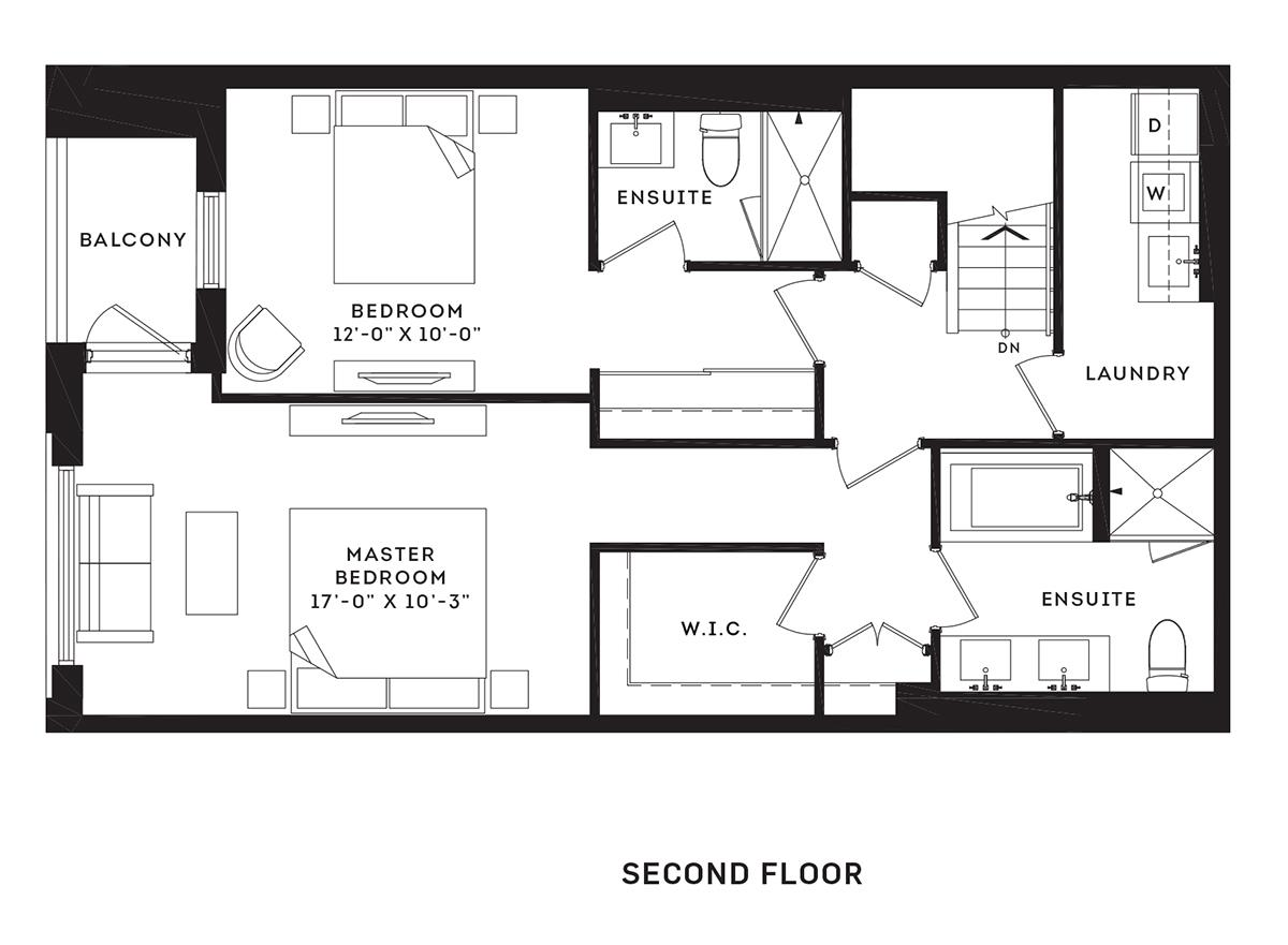 The Town Home Floorplan 2