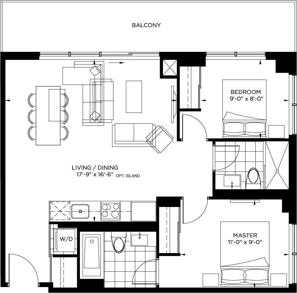 Tower Collection - Pacino Floorplan 1