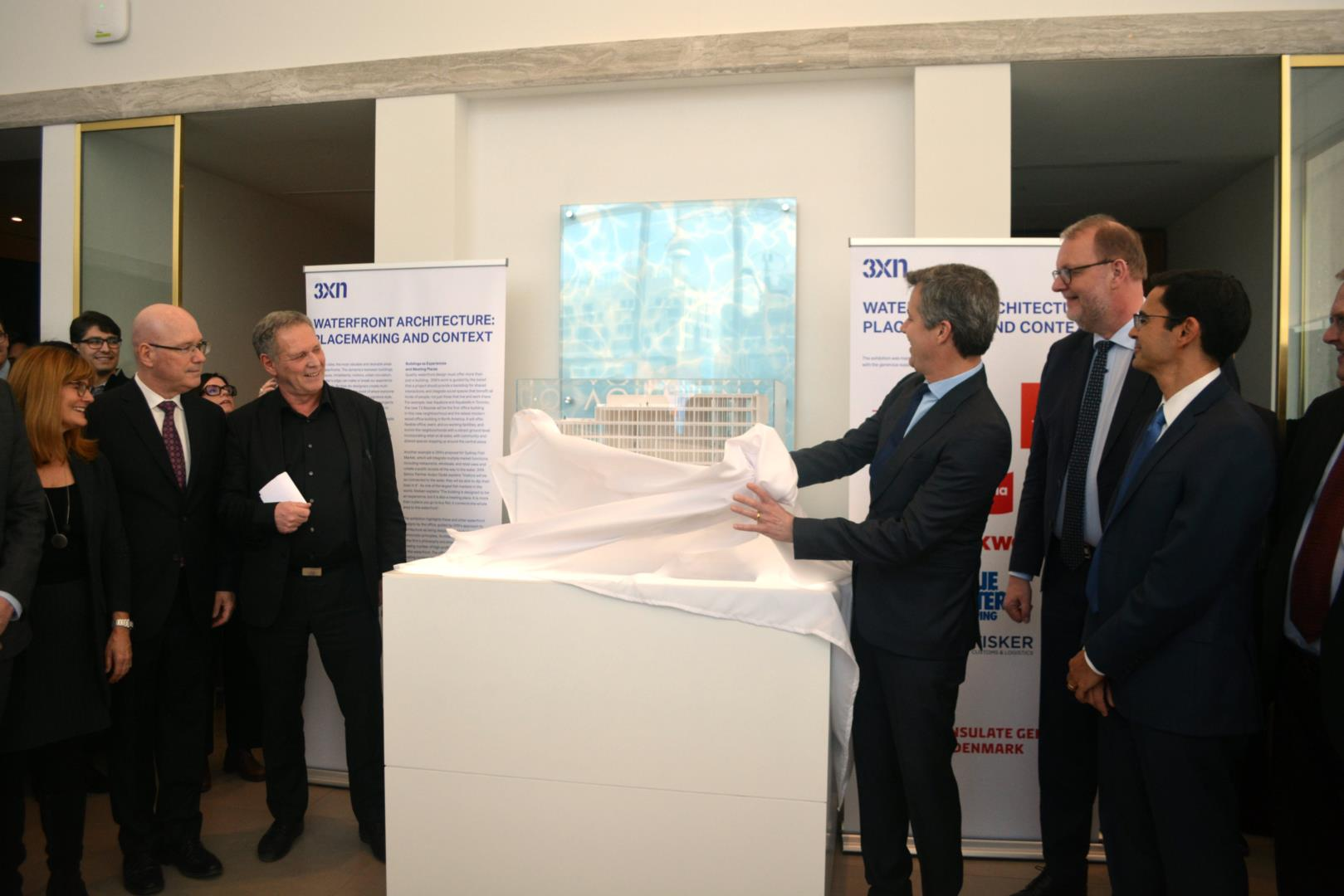 Crown Prince of Denmark unveils architecture exhibit at Aqualuna presentation centre Image