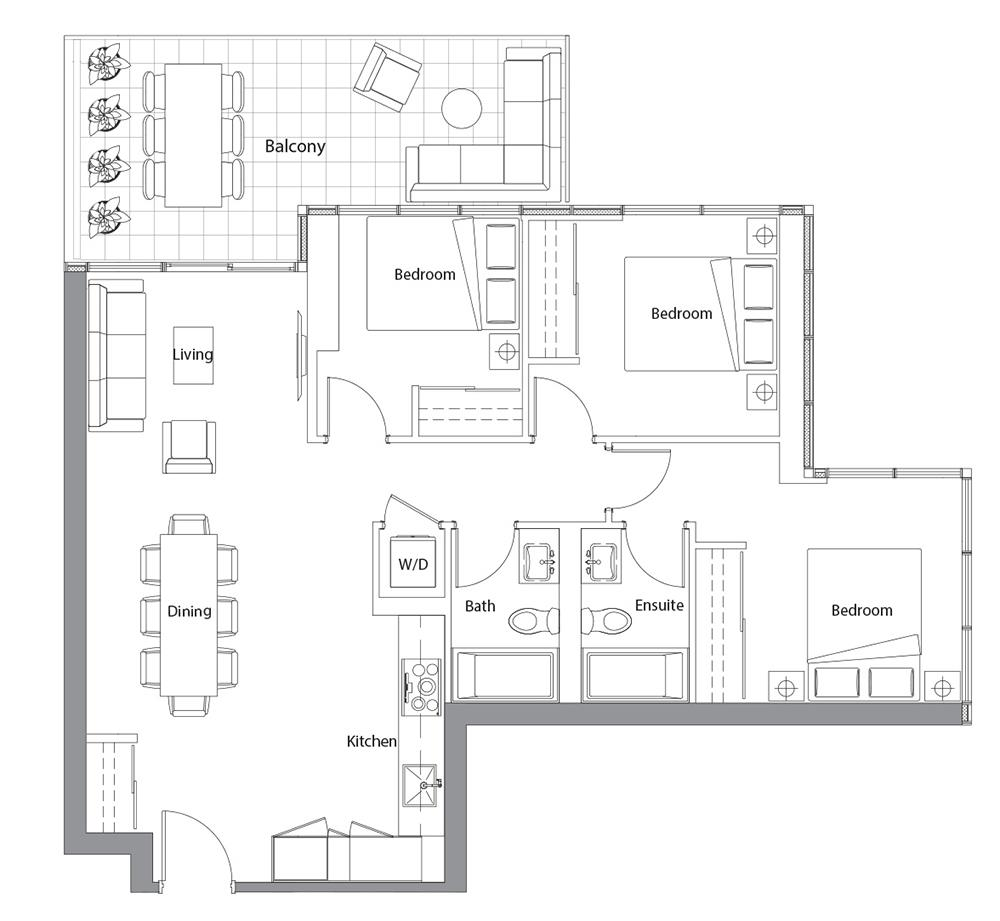 East Tower Upper 08 Floorplan 1