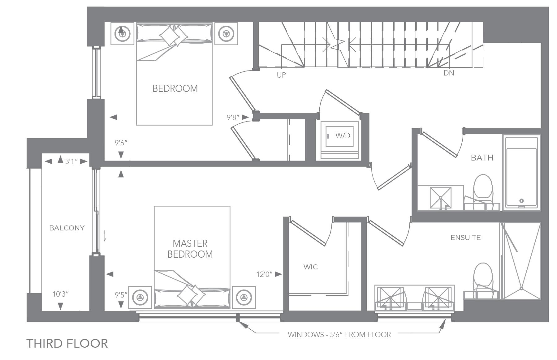 No. 1, 19 Floorplan 3