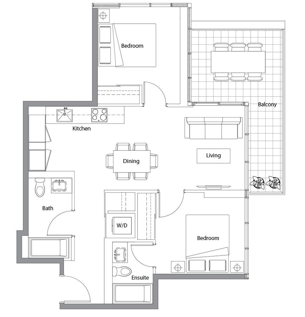 West Tower 12 Floorplan 1