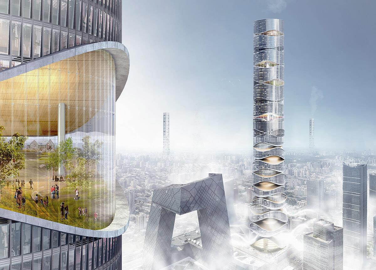 Skyscraper concepts that limit our impact on the environment Image