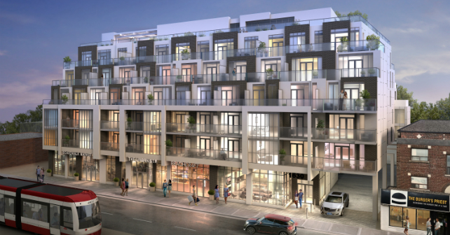 The first rendering of WestBeach Condominiums by Marlin Spring Image