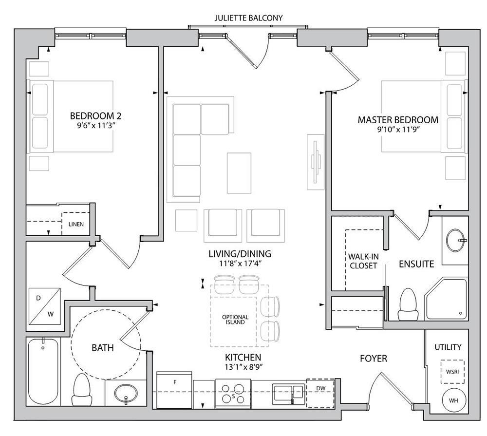 The Barton Floorplan 1