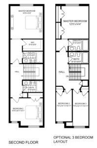 End Unit 3 Bedroom Floorplan 2