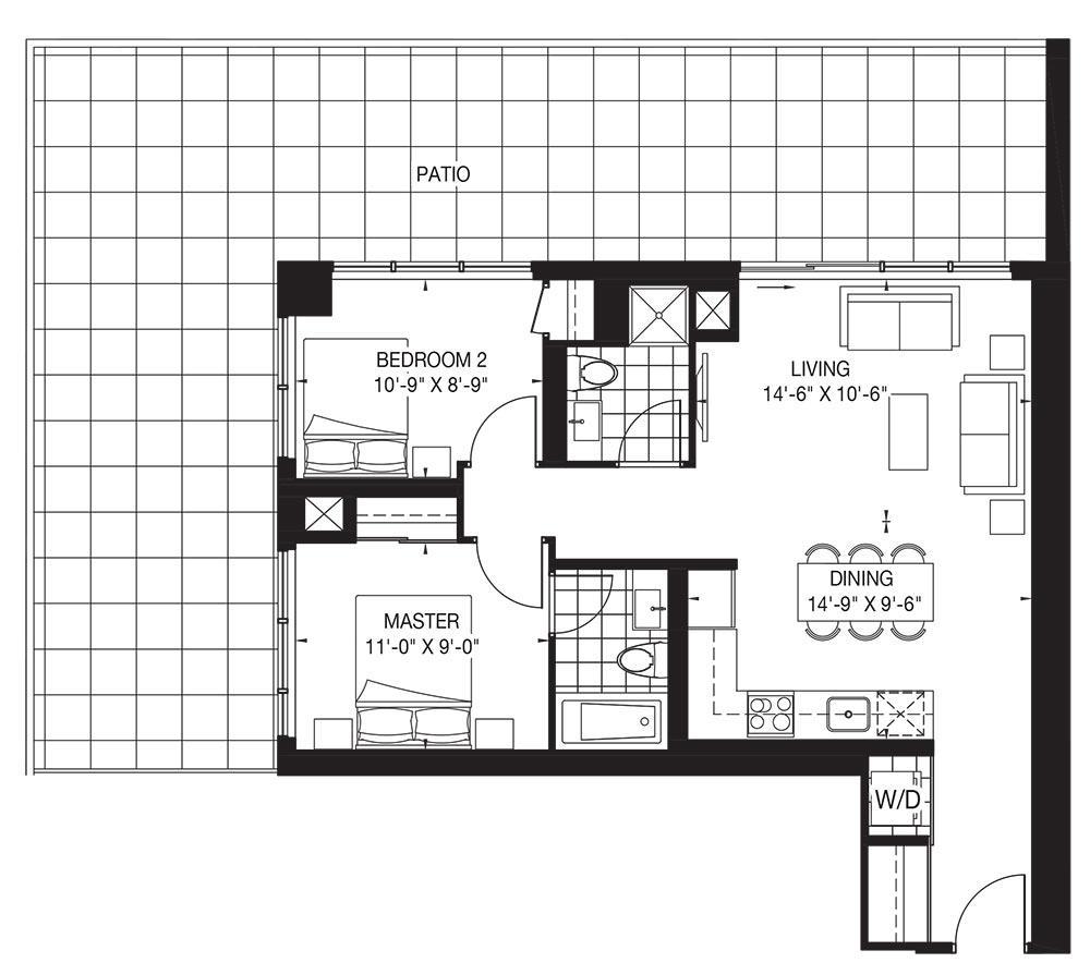 The Oasis Collection - Chiffon (Patio) Floorplan 1