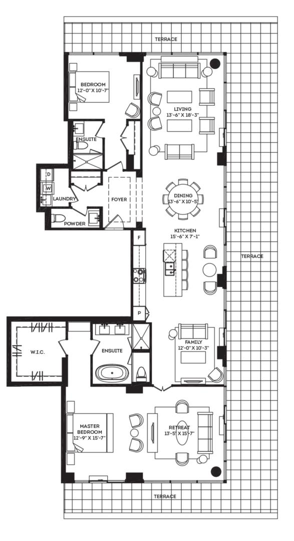The Penthouse 03 Floorplan 1