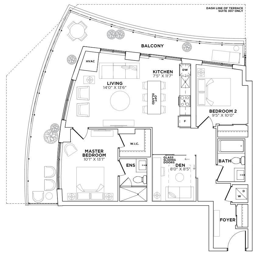 Wicker Park Floorplan 1