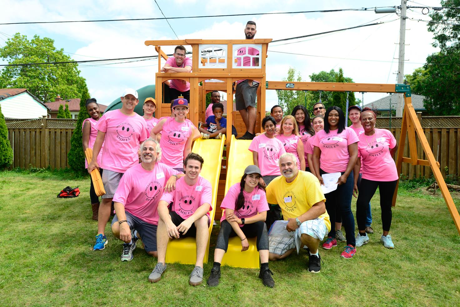 PLUS GROUP of Companies builds new play structure with Million Dollar Smiles Image