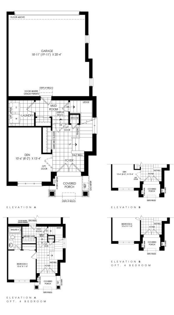 Stonegate Upgraded End Floorplan 1