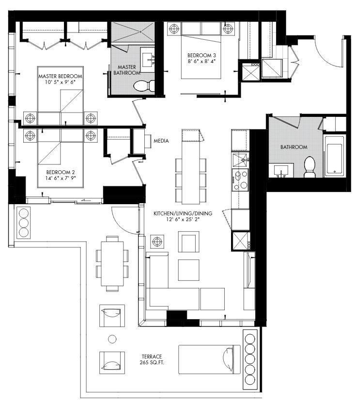 Yorkville 65 Floorplan 1