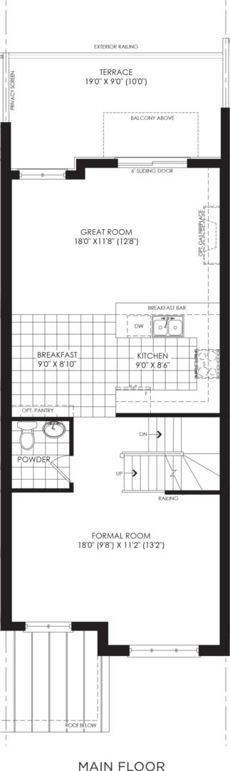 BLOCK 18, ELEV. B1 REV, UNIT 3 Floorplan 2