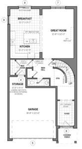 The Brockton 34 IV A Floorplan 1