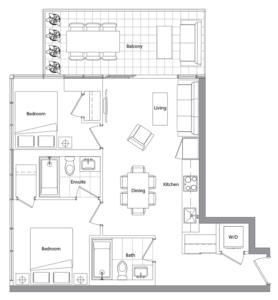 Upper (West Tower) 02 Floorplan 1