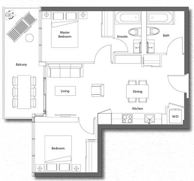 Upper House Suite 05 Floorplan 1