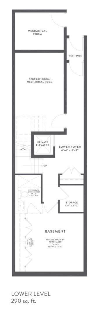 Townhome Collection A Floorplan 1