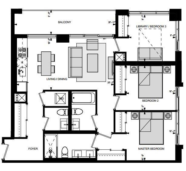Suite HN3 Floorplan 1
