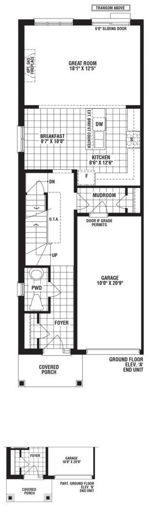 Turquoise End Unit Floorplan 1