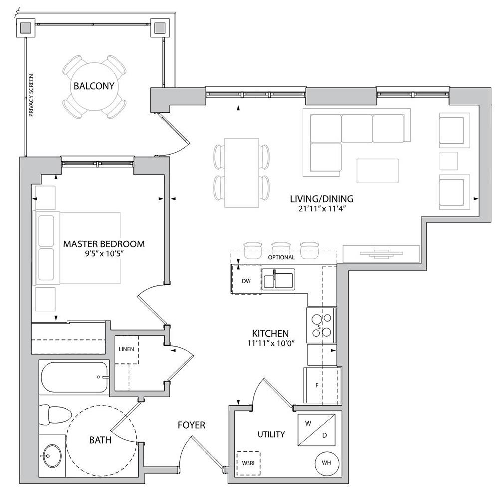 The Langley Floorplan 1