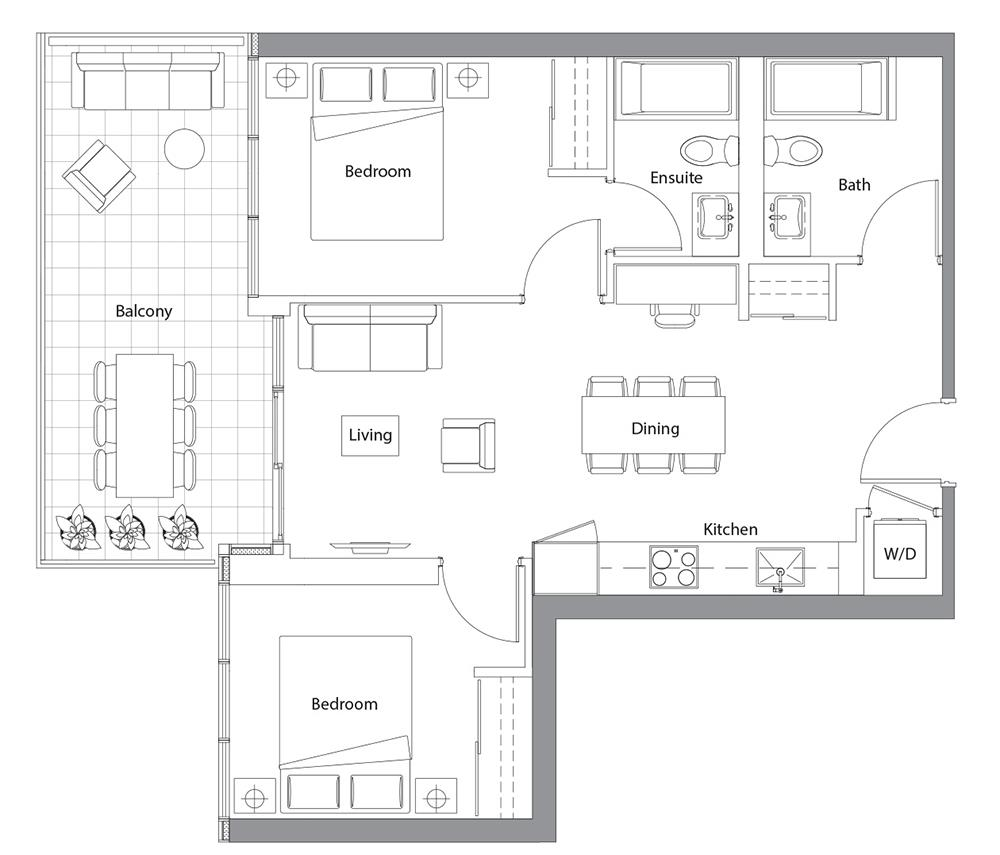 East Tower Upper 05 Floorplan 1