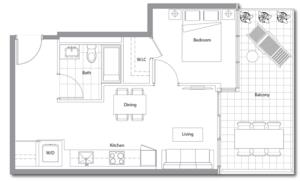East Tower 15 Floorplan 1
