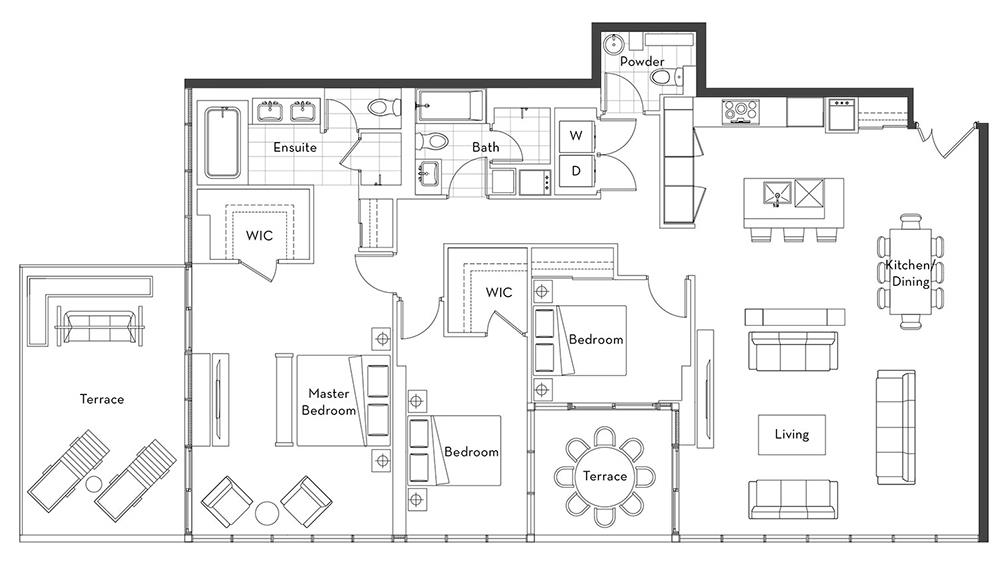 The Penthouse Collection - 03 Floorplan 1