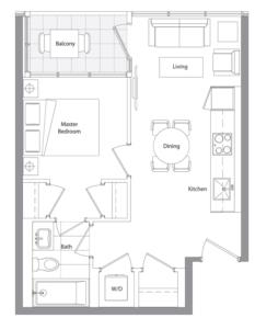 Lower Typical (East Tower) 12 Floorplan 1